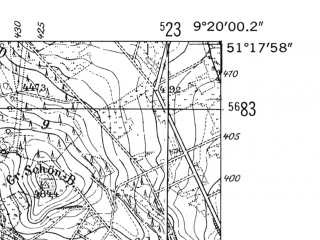 Reduced fragment of topographic map de--mb--025k--47_021-ams--(1952)--N051-18_E009-10--N051-12_E009-20