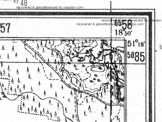 Reduced fragment of topographic map de--mb--025k--47_078--(1945)--N051-18_E018-40--N051-12_E018-50