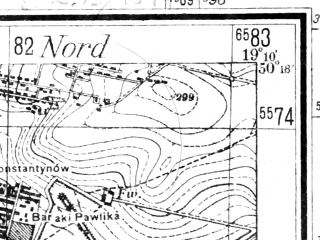Reduced fragment of topographic map de--mb--025k--47_080--(1942)--N051-18_E019-00--N051-12_E019-10