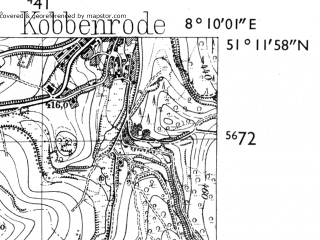 Reduced fragment of topographic map de--mb--025k--48_014-ams--(1955)--N051-12_E008-00--N051-06_E008-10