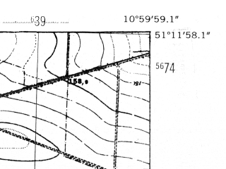 Reduced fragment of topographic map de--mb--025k--48_031-ams--(1952)--N051-12_E010-50--N051-06_E011-00