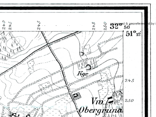 Reduced fragment of topographic map de--mb--025k--48_056--(1888)--N051-12_E015-00--N051-06_E015-10; towns and cities Zgorzelec