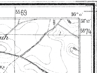 Reduced fragment of topographic map de--mb--025k--48_061--(1937)--N051-12_E015-50--N051-06_E016-00; towns and cities Zlotoryja