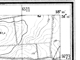 Reduced fragment of topographic map de--mb--025k--48_074--(1940)--N051-12_E018-00--N051-06_E018-10