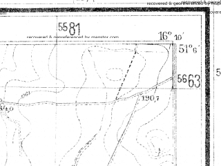 Reduced fragment of topographic map de--mb--025k--49_062--(1941)--N051-06_E016-00--N051-00_E016-10