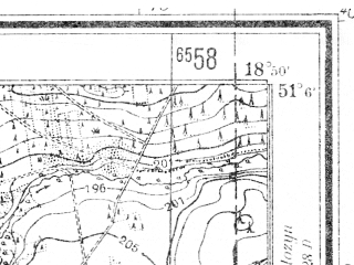 Reduced fragment of topographic map de--mb--025k--49_078--(1941)--N051-06_E018-40--N051-00_E018-50