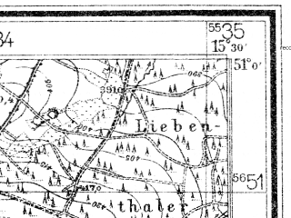 Reduced fragment of topographic map de--mb--025k--50_058--(1939)--N051-00_E015-20--N050-54_E015-30; towns and cities Swieradow-zdroj
