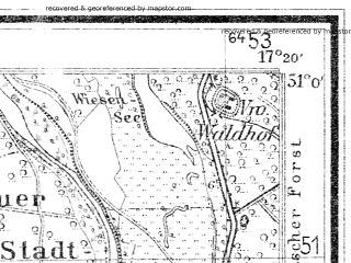 Reduced fragment of topographic map de--mb--025k--50_069--(1940)--N051-00_E017-10--N050-54_E017-20; towns and cities Olawa