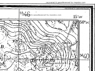 Reduced fragment of topographic map de--mb--025k--51_059--(1940)--N050-54_E015-30--N050-48_E015-40