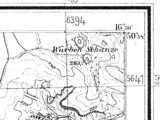 Reduced fragment of topographic map de--mb--025k--51_064--(1932)--N050-54_E016-20--N050-48_E016-30; towns and cities Swidnica