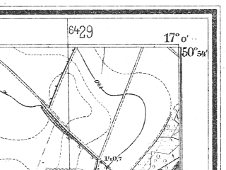 Reduced fragment of topographic map de--mb--025k--51_067--(1938)--N050-54_E016-50--N050-48_E017-00