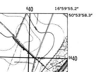 Reduced fragment of topographic map de--mb--025k--51_067-ams--(1952)--N050-54_E016-50--N050-48_E017-00