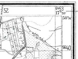 Reduced fragment of topographic map de--mb--025k--51_069--(1938)--N050-54_E017-10--N050-48_E017-20; towns and cities Wiazow