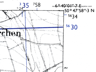 Reduced fragment of topographic map de--mb--025k--52_005-ams--(1955)--N050-48_E006-30--N050-42_E006-40