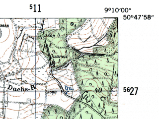 Reduced fragment of topographic map de--mb--025k--52_020-ams--(1954)--N050-48_E009-00--N050-42_E009-10