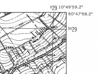 Reduced fragment of topographic map de--mb--025k--52_030-ams--(1952)--N050-48_E010-40--N050-42_E010-50