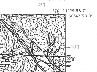 Reduced fragment of topographic map de--mb--025k--52_034-ams--(1952)--N050-48_E011-20--N050-42_E011-30