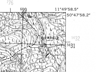 Reduced fragment of topographic map de--mb--025k--52_036-ams--(1952)--N050-48_E011-40--N050-42_E011-50; towns and cities Neustadt