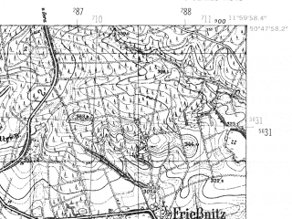 Reduced fragment of topographic map de--mb--025k--52_037-ams--(1952)--N050-48_E011-50--N050-42_E012-00
