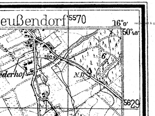 Reduced fragment of topographic map de--mb--025k--52_061--(1938)--N050-48_E015-50--N050-42_E016-00; towns and cities Lubawka