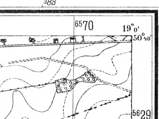 Reduced fragment of topographic map de--mb--025k--52_079--(1941)--N050-48_E018-50--N050-42_E019-00