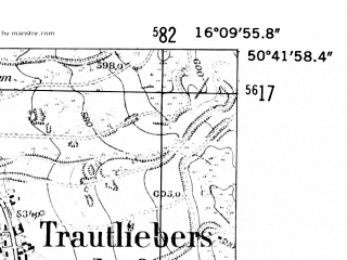 Reduced fragment of topographic map de--mb--025k--53_062-ams--(1952)--N050-42_E016-00--N050-36_E016-10