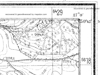 Reduced fragment of topographic map de--mb--025k--53_067--(1939)--N050-42_E016-50--N050-36_E017-00