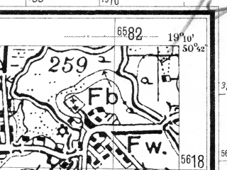 Reduced fragment of topographic map de--mb--025k--53_080--(1934)--N050-42_E019-00--N050-36_E019-10