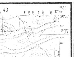 Reduced fragment of topographic map de--mb--025k--54_068--(1919)--N050-36_E017-00--N050-30_E017-10; towns and cities Ziebice