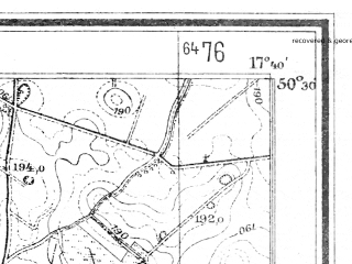 Reduced fragment of topographic map de--mb--025k--55_071--(1941)--N050-30_E017-30--N050-24_E017-40