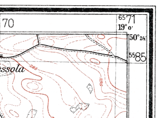 Reduced fragment of topographic map de--mb--025k--56_079--(1934)--N050-24_E018-50--N050-18_E019-00