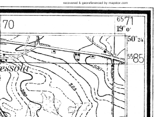 Reduced fragment of topographic map de--mb--025k--56_079--(1943)--N050-24_E018-50--N050-18_E019-00