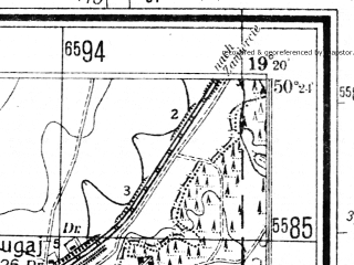 Reduced fragment of topographic map de--mb--025k--56_081--(1942)--N050-24_E019-10--N050-18_E019-20; towns and cities Zabkowice