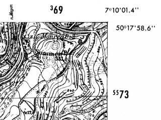 Reduced fragment of topographic map de--mb--025k--57_008-ams--(1952)--N050-18_E007-00--N050-12_E007-10