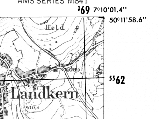 Reduced fragment of topographic map de--mb--025k--58_008-ams--(1952)--N050-12_E007-00--N050-06_E007-10