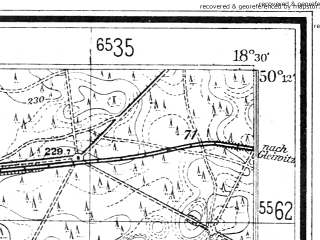 Reduced fragment of topographic map de--mb--025k--58_076--(1928)--N050-12_E018-20--N050-06_E018-30