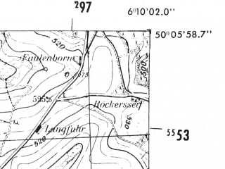 Reduced fragment of topographic map de--mb--025k--59_002-ams--(1952)--N050-06_E006-00--N050-00_E006-10