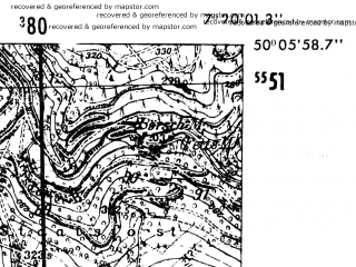Reduced fragment of topographic map de--mb--025k--59_009-ams--(1952)--N050-06_E007-10--N050-00_E007-20