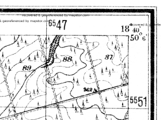 Reduced fragment of topographic map de--mb--025k--59_077--(1941)--N050-06_E018-30--N050-00_E018-40