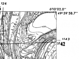 Reduced fragment of topographic map de--mb--025k--60_002-ams--(1952)--N050-00_E006-00--N049-54_E006-10