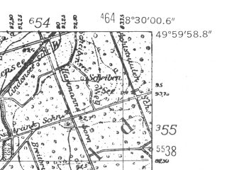 Reduced fragment of topographic map de--mb--025k--60_016-ams--(1952)--N050-00_E008-20--N049-54_E008-30