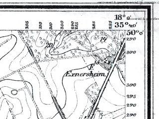 Reduced fragment of topographic map de--mb--025k--60_073--(1923)--N050-00_E017-50--N049-54_E018-00; towns and cities Opava