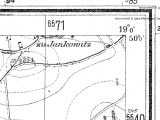 Reduced fragment of topographic map de--mb--025k--60_079--(1934)--N050-00_E018-50--N049-54_E019-00; towns and cities Pszczyna