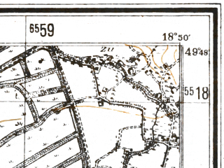 Reduced fragment of topographic map de--mb--025k--62_078--(1944)--N049-48_E018-40--N049-42_E018-50; towns and cities Skoczow
