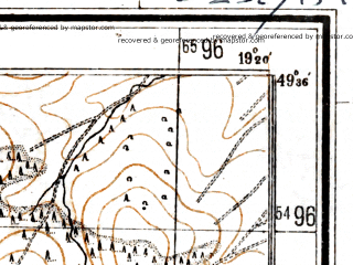 Reduced fragment of topographic map de--mb--025k--64_081--(1944)--N049-36_E019-10--N049-30_E019-20