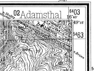 Reduced fragment of topographic map de--mb--025k--67_065--(1943)--N049-18_E016-30--N049-12_E016-40
