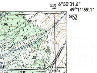 Reduced fragment of topographic map de--mb--025k--68_006-ams--(1954)--N049-12_E006-40--N049-06_E006-50