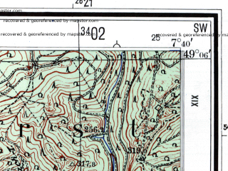 Reduced fragment of topographic map de--mb--025k--69_011--(1960)--N049-06_E007-30--N049-00_E007-40
