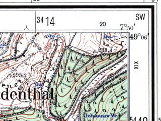 Reduced fragment of topographic map de--mb--025k--69_012--(1962)--N049-06_E007-40--N049-00_E007-50
