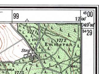 Reduced fragment of topographic map de--mb--025k--70_037--(1983)--N049-00_E011-50--N048-54_E012-00; towns and cities Kelheim